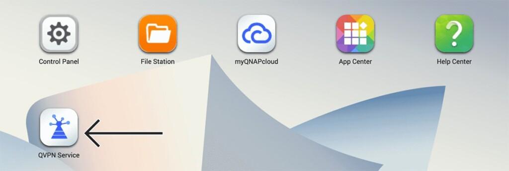 Accessing QVPN Tool on QNAP