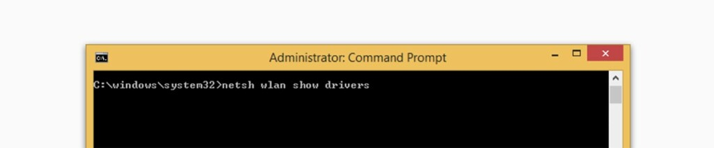 Checking Network Drivers Command Prompt