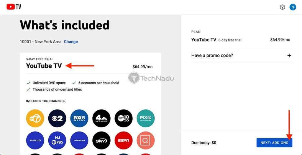 Choosing YouTube Base Plan