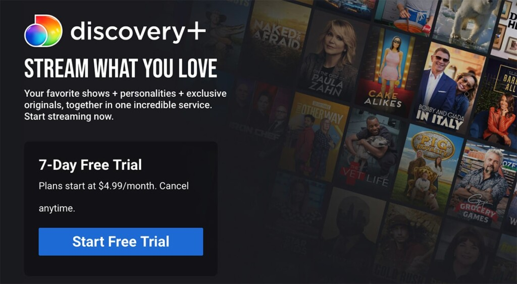 Discovery Plus Sign-Up Landing Page