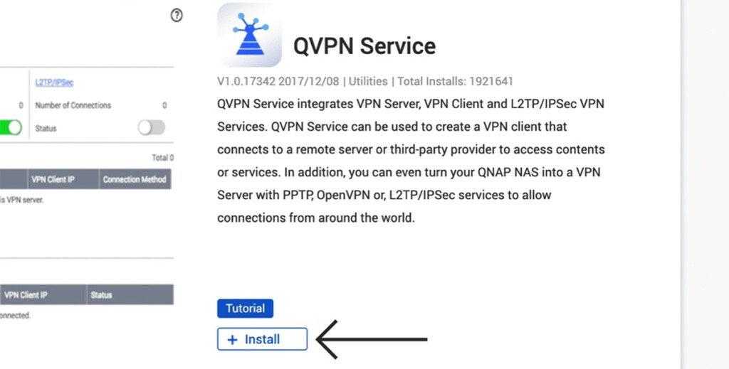 Installing QVPN on QNAP NAS