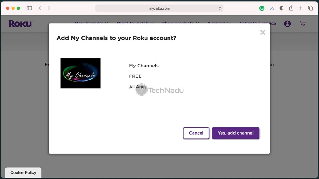 My Channels Private Channel for Roku