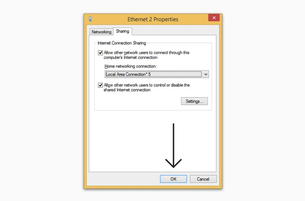 Sharing Internet Connection on Windows 8