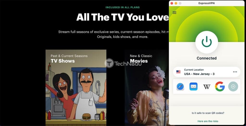 Watching Hulu with ExpressVPN