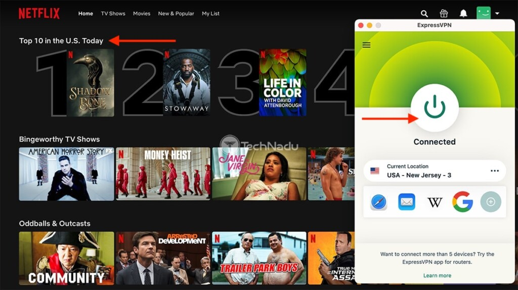 Watching Netflix US Using ExpressVPN
