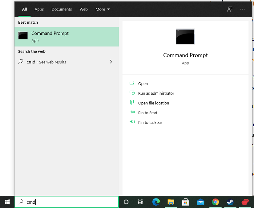 how to open command prompt in windows 10