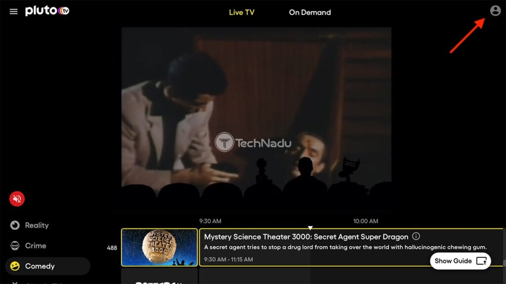 Creating Pluto TV Account