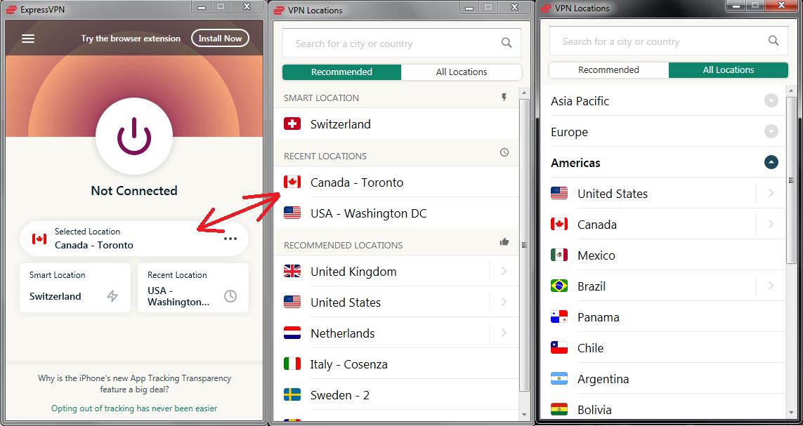 ExpressVPN list of locations