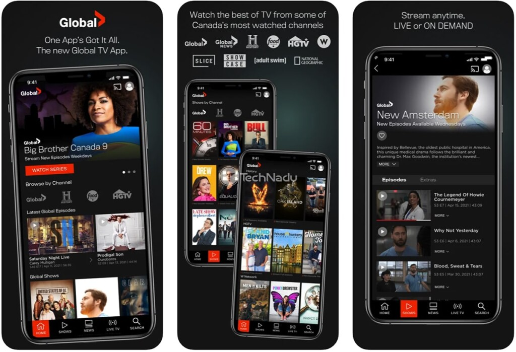 Global TV App for iPhone