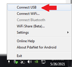 how to share vpn connection from android to pc using pdanet+