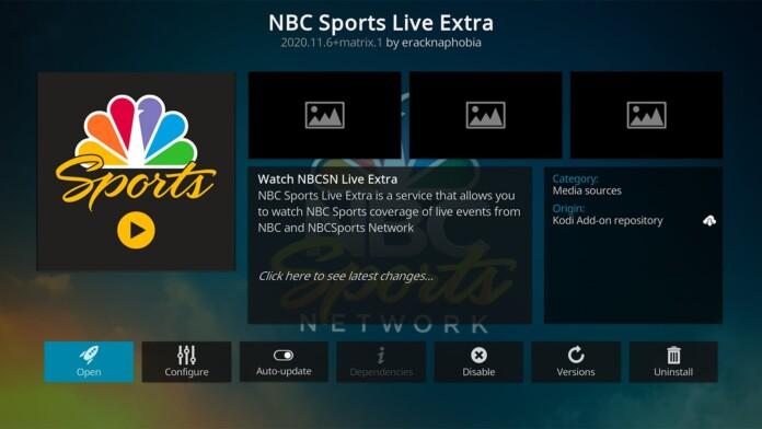 NBC Sports Live Extra Kodi Addon