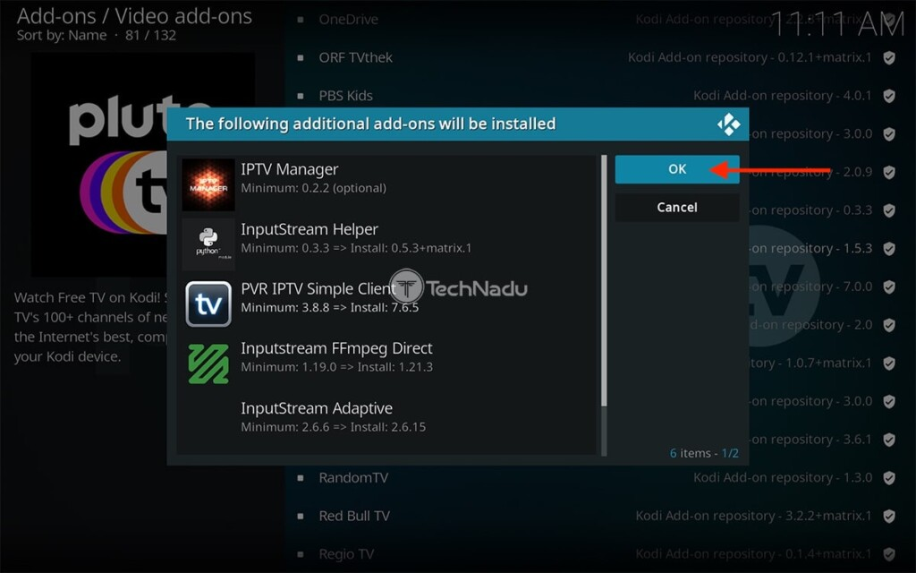 Pluto TV for Kodi List of Dependencies