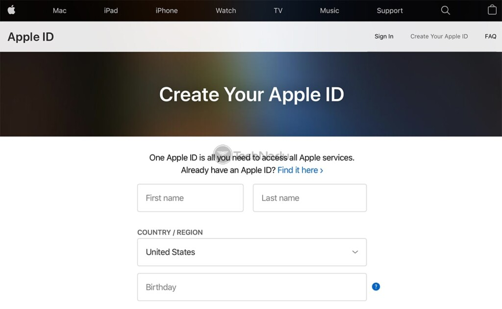 Signing Up for Apple ID