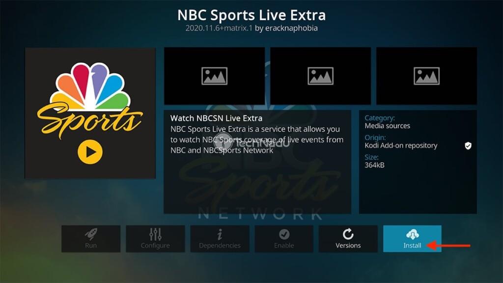 Step to Install NBC Sports Addon on Kodi