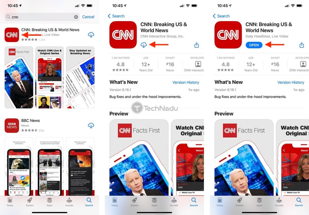 Steps to Download CNN App on iPhone