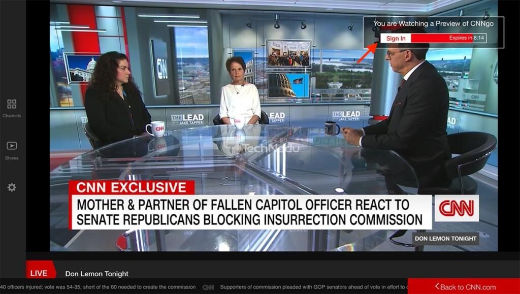 Streaming CNN Go Outside US via ExpressVPN