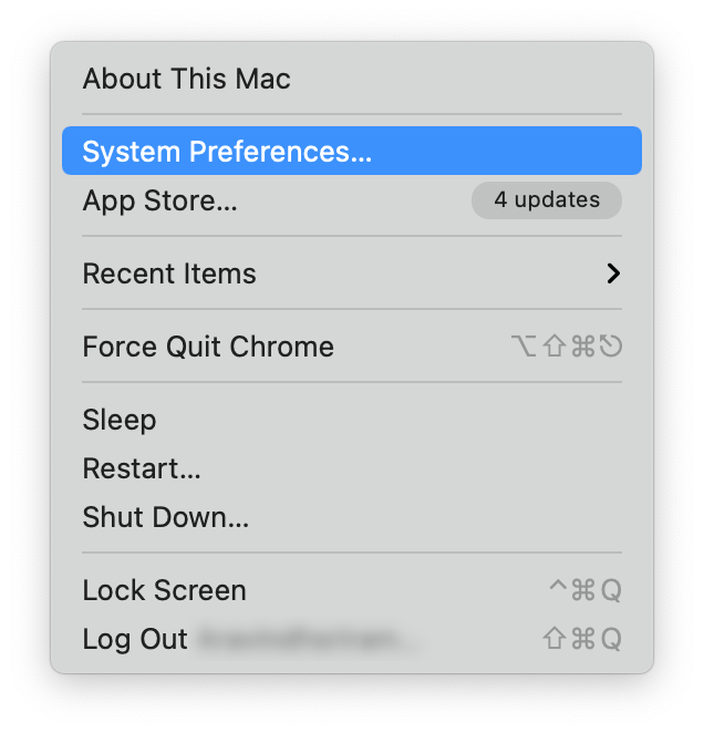 system preferences on macos