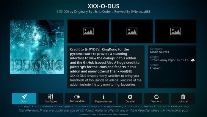 XXX-O-DUS Kodi Addon