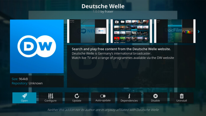 Deutsche Welle Kodi Addon