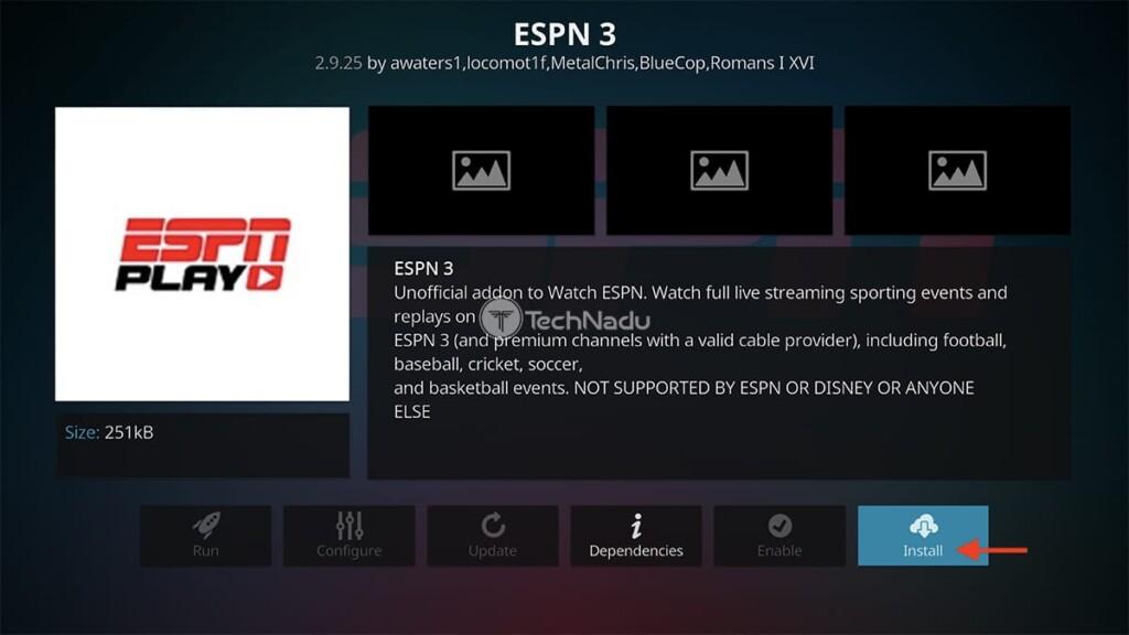 Final Step to Install ESPN 3 on Kodi