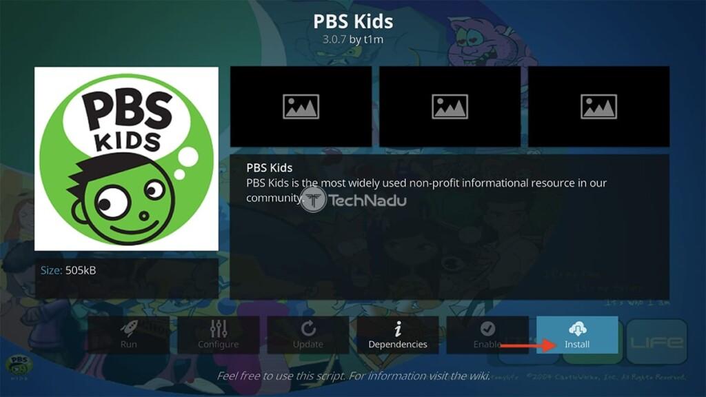Final Step to Install PBS Kids on Kodi