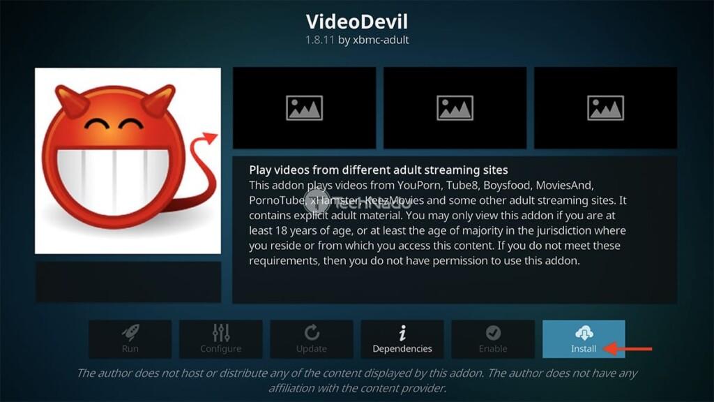 Final Step to Install Video Devil Kodi Addon