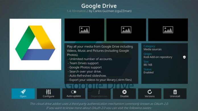 Google Drive Kodi Addon
