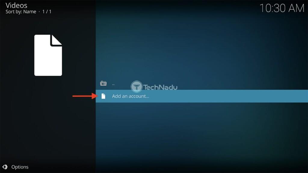 Google Drive for Kodi Home Screen
