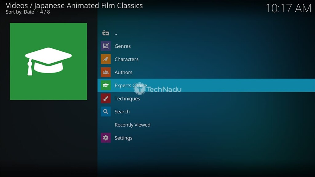 Japanese Animated Film Classics for Kodi Home Page