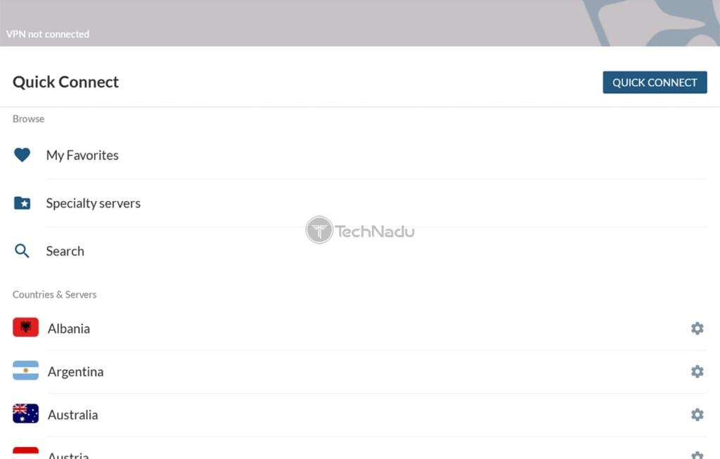 Listing All NordVPN Servers on Firestick
