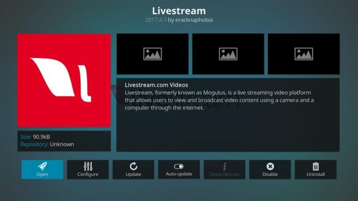Livestream Kodi Addon