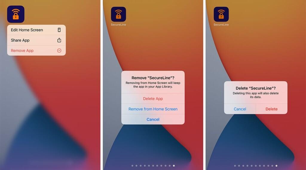 Removing Avast SecureLine VPN on iPhone
