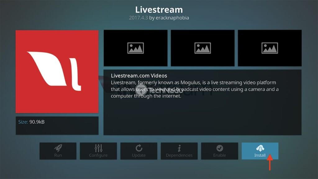 Step to Install Livestream on Kodi