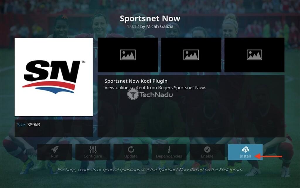 Step to Install Sportsnet Now on Kodi