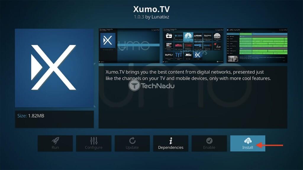 Step to Install XUMO TV on Kodi