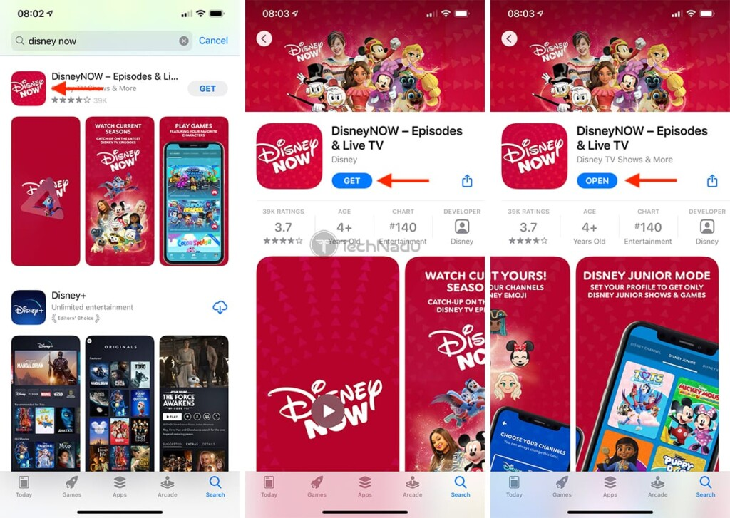 Steps to Download DisneyNOW on iPhone