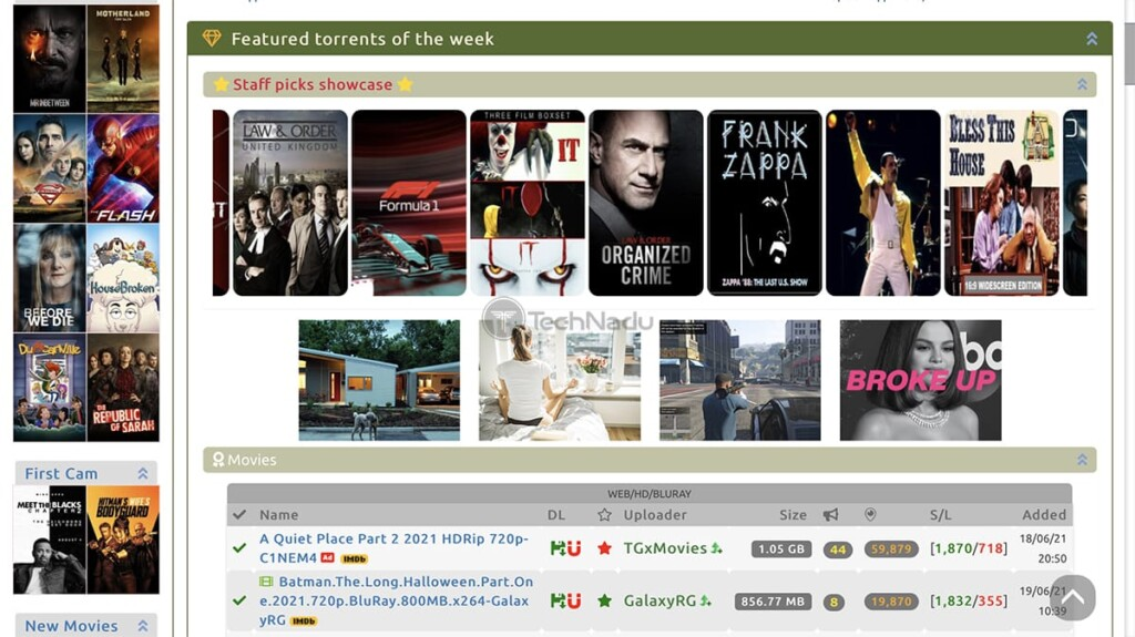 Torrent Galaxy Home Page