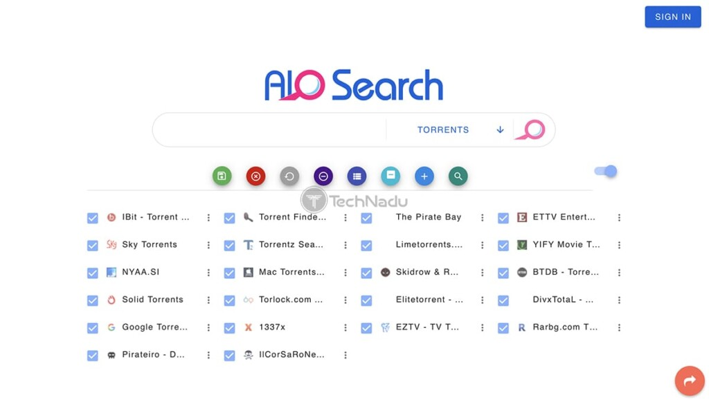AIO Search Torrent Site Homepage