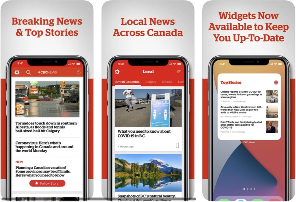 CBC News App Images from iOS App Store