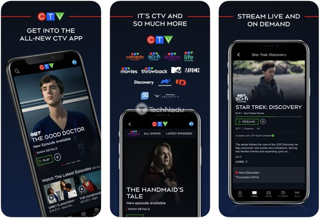 CTV App Promo Images from iOS App Store
