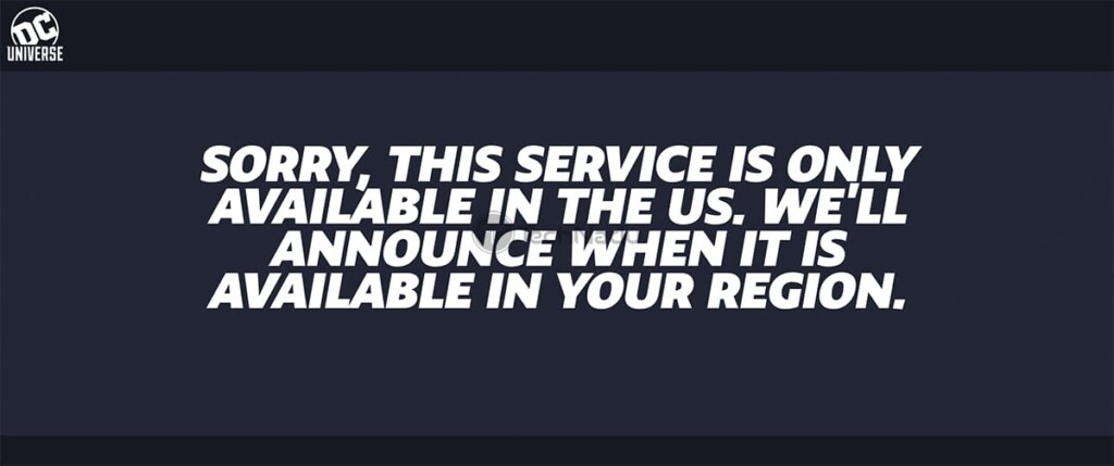 DC Universe Infinite Geo Block Message