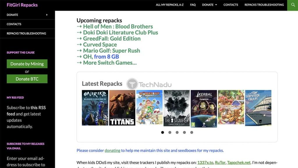 FitGirl Repacks Torrent Site