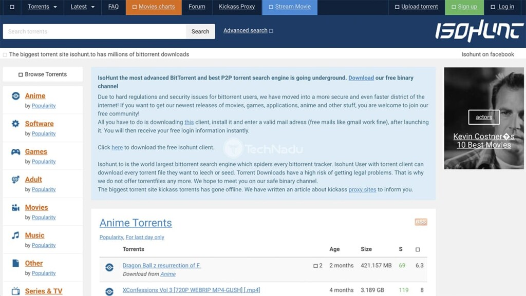 ISOHunt Torrent Site