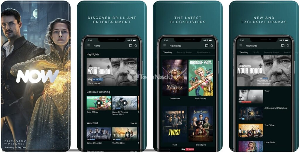 NOW TV App Promo Image from iOS App Store