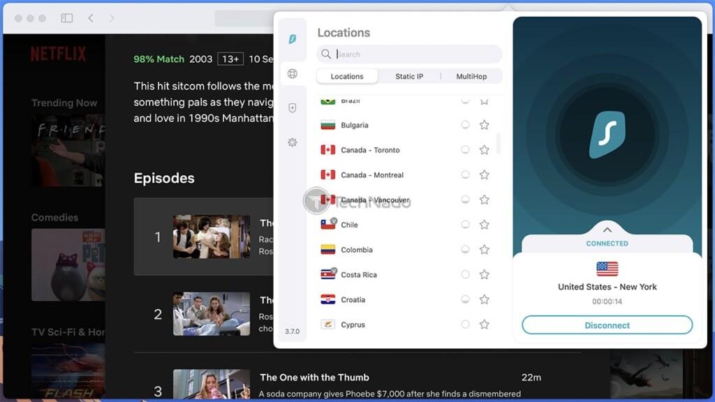 Accessing Netflix Outside the US via Surfshark