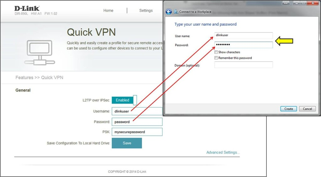 Adding VPN Credentials for a New Connection on Windows