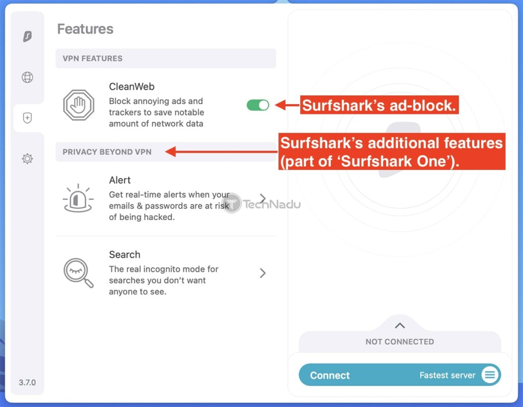 Additional Features Offered by Surfshark