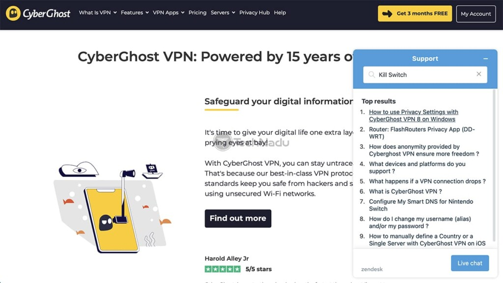 Using CyberGhost VPNs Customer Support System