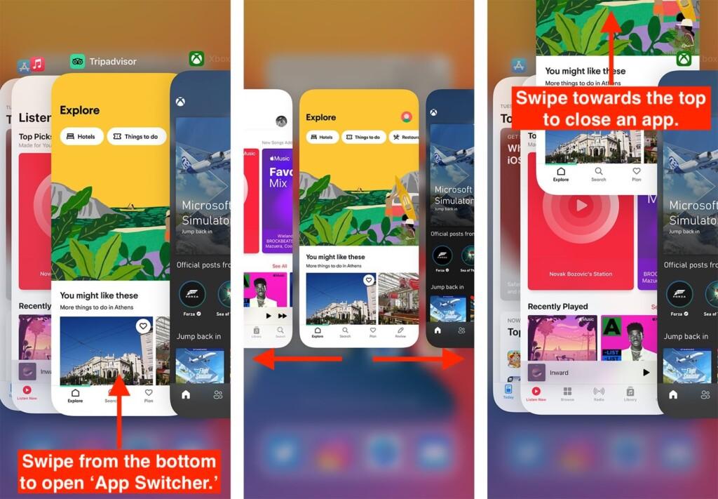 App Switcher on iPhone