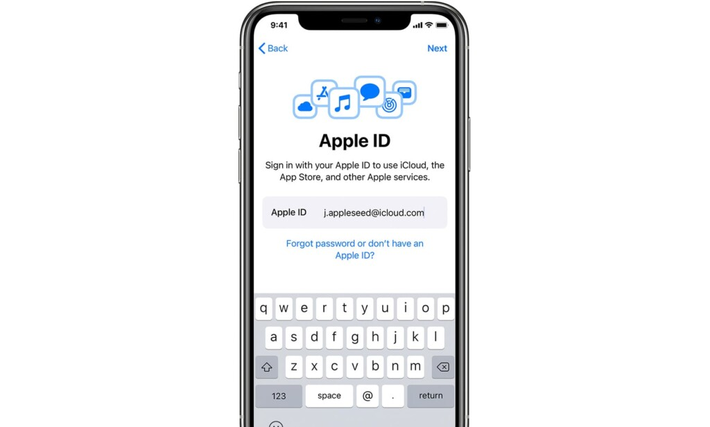 Prompt for Logging to Apple ID